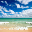 Beautiful beach and sea - Stock Photo