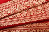Indian sari close up — Stock Photo