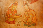Sigiriya frescoes — Stock Photo