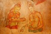 Sigiriya frescoes — Stock Photo