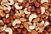 Assorted nuts (almonds, filberts, walnut — Stock Photo