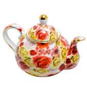 Bule de chá chinês isolado — Fotografia Stock