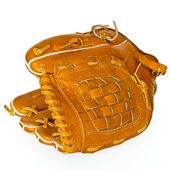 Baseball catcher mitt isolated on white — Stock Photo
