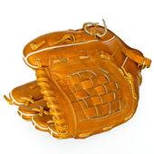 Baseball catcher mitt isolated on white — Stock Photo