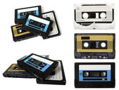 Audio cassette (tape) isolated — Stock Photo
