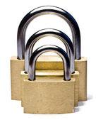 Three padlocks of different size — Stock Photo