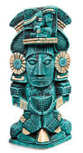Mayan deity statue from Mexico isolated — Stock Photo