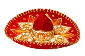 Red sombrero isolated — Stock Photo