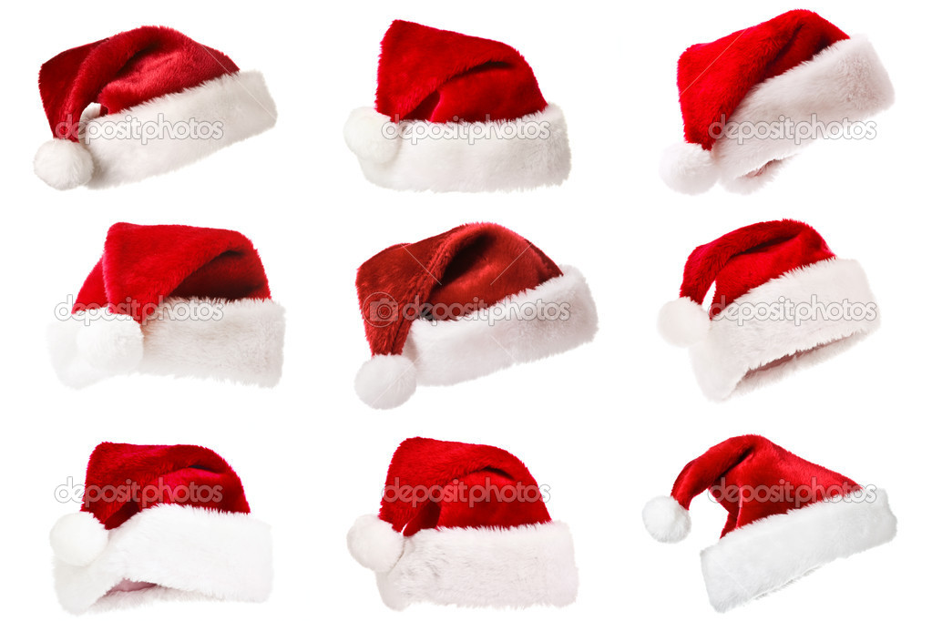 Santa's red hat isolated on white — Stock Photo #1092226