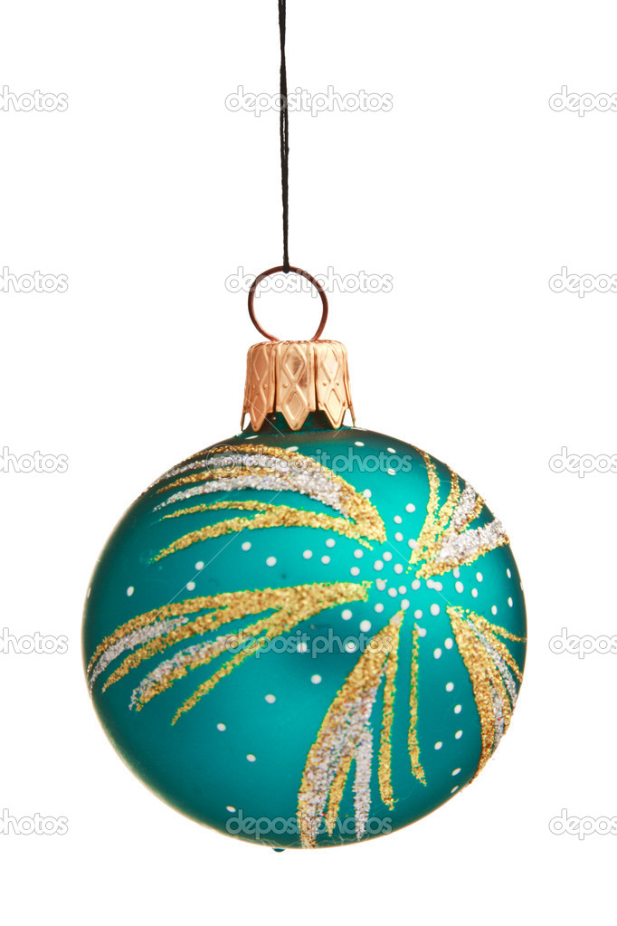 Christmas bauble isolated on white background — Stock Photo #1093486