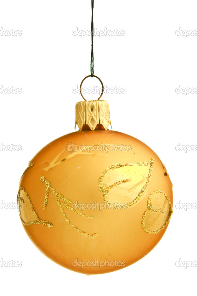 Christmas bauble isolated on white background  Stock Photo #1093487
