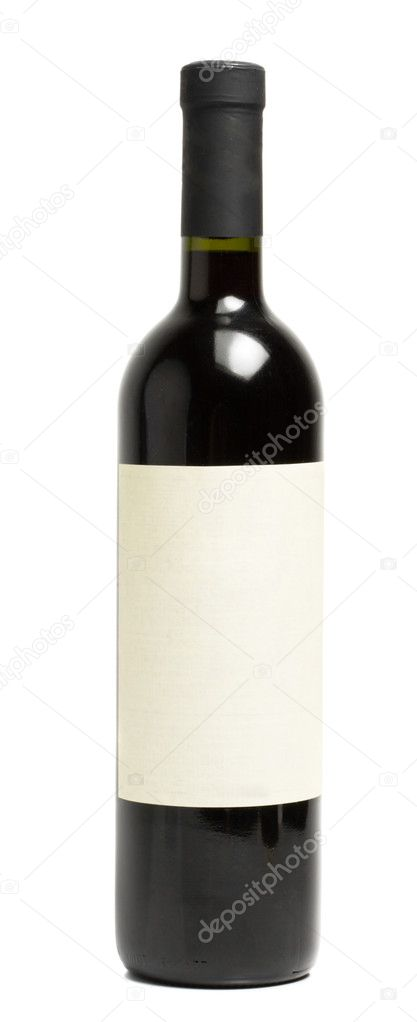 Wine bottle isolated on white background — Photo #1093508