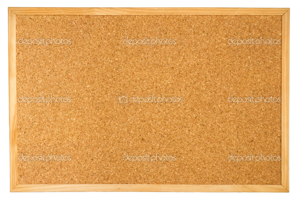 Empty cork board isolated on white background — Stock Photo #1093667