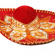 Red sombrero isolated - Foto Stock