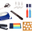 Collection of office objects isolated - Foto de Stock  