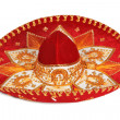 Red sombrero isolated — Stock Photo #1109394