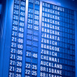 Depature schedule board in asian airport — Stock Photo #1113292