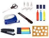 Zbiór obiektów pakietu office na białym tle — Zdjęcie stockowe