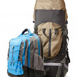 Stock Photo: Two backpacks isolated