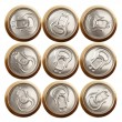 Beer (or soda) cans isolated on white - Foto Stock