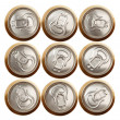 Beer (or soda) cans isolated on white - Stock Photo