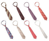 Set of man's ties isolated — Stock Photo