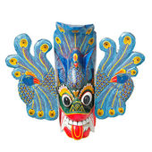 Traditional Sri Lankan mask isolated — Stock Photo