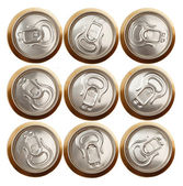 Beer (or soda) cans isolated on white — Stock Photo
