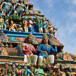 Stock Photo: Gopuram (tower) of Hindu temple