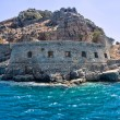 Bastion of an ancient Byzantian citadel on the Grecian island — Stock Photo #1084563