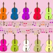 Royalty-Free Stock Vector Image: Notes and violins