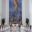 Indoor Christian Church With Lights — Stock Photo