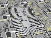 Microchip Technology 3D — Stock Photo