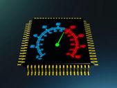 Cpu speed — Stock Photo