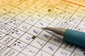 The Crossword Puzzle — Stock Photo
