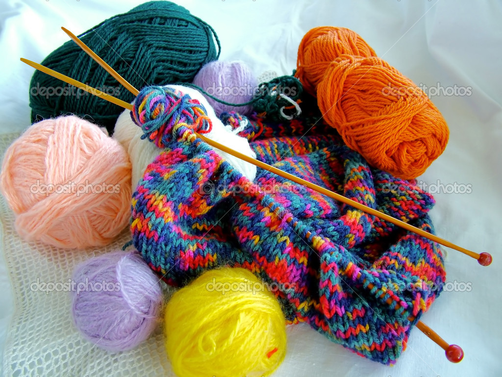 Knitting Patterns Wool And Needles : Knitting Wool And Needles   Stock Photo ? Raimundas #1257580