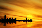 New York silhouette — Stock Photo