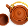 Clay teapot with cup for the Chinese tea — Stock Photo