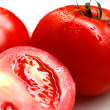 Tomatoes on the plate — Stock Photo #1083454