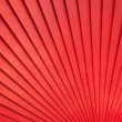Royalty-Free Stock Photo: Chinese red wooden fan on the white