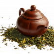 Clay teapot for the Chinese tea — Stock Photo
