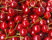 Sweet cherry background — Stock Photo