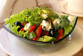 The Greek salad — Stock Photo