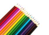 разноцветные карандаши, изолированные на wh — Стоковое фото