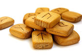 Wooden runes — Stock Photo