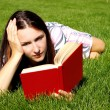 Royalty-Free Stock Photo: Young women with book