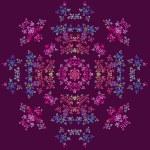Flower fractal ornament — Stock Photo