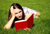 Young women with book — Stock Photo