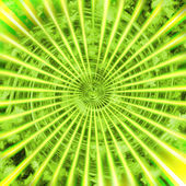 Green sunshine — Stock Photo