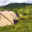 Range of tents — Stock Photo